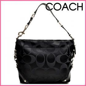COACH CARLY SIGNATURE SATEEN CARLY BAG f15250